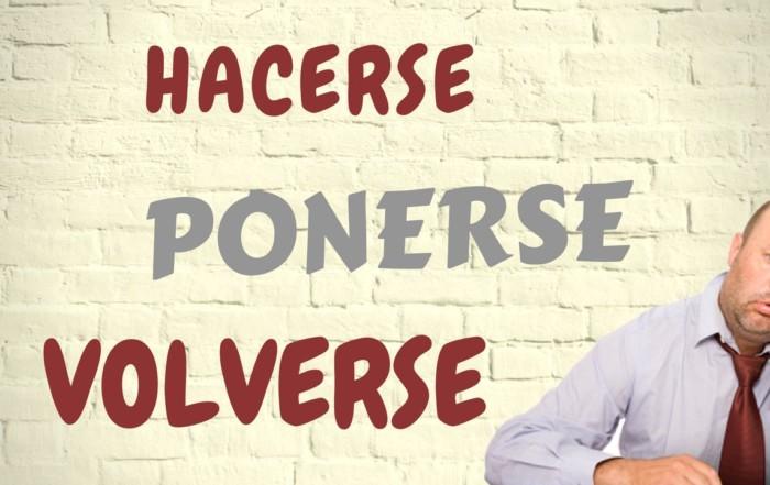 verbos para expresar cambio en español